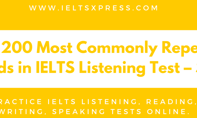 IELTSXpress Mos commonly used words for IELTS Listening test set 3
